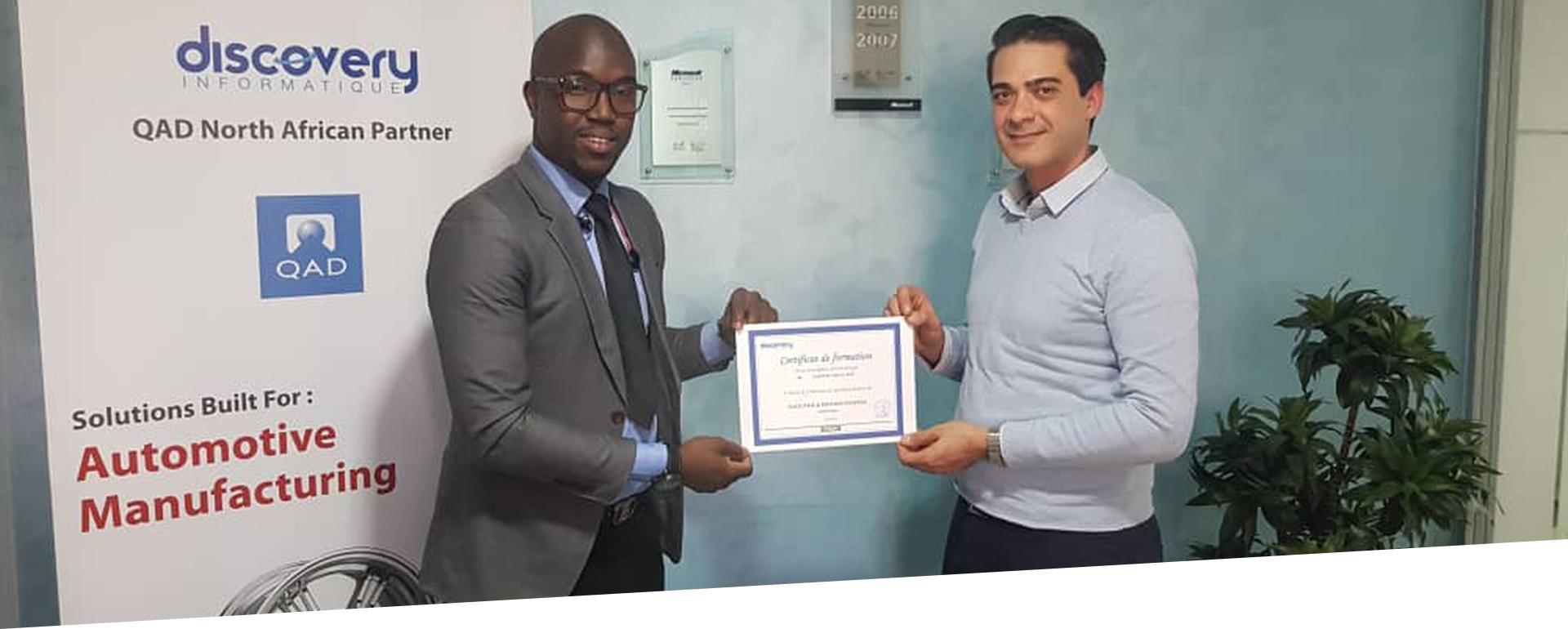 Certification après formation en Sage Paie & RH de l'équipe du SNE Tchad